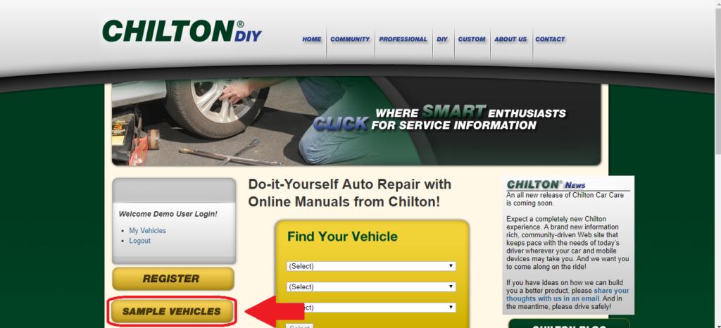 image of chiltondiy online manual free sample vehicles