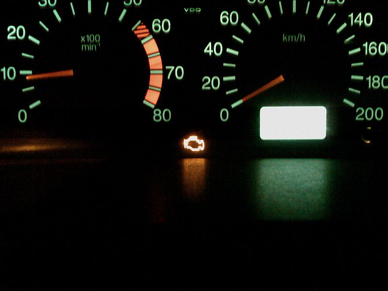image of check engine light